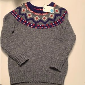 NWT Fair Isle Sweater by Boden Size 5-6